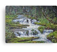 "Original Acrylic ""Forest Creek"" Landscape Painting Canvas Print"