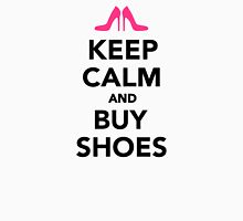 Keep calm and buy shoes Womens Fitted T-Shirt