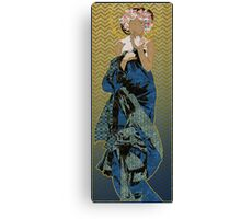 Patterned After Mucha Canvas Print