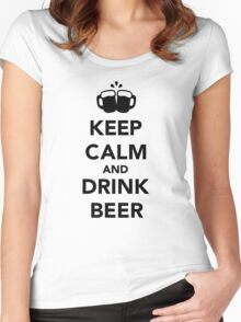 Keep calm and drink beer Women's Fitted Scoop T-Shirt