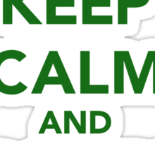 Keep calm and drink on beer St. Patricks day Sticker