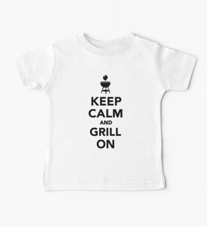 Keep calm and grill on Baby Tee