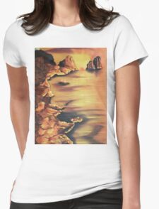 Rocks at Sunset by Suzanne Marie Leclair Womens Fitted T-Shirt