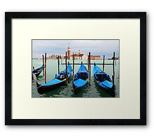 Three gondolas Framed Print