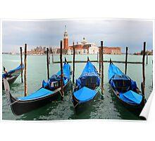 Three gondolas Poster