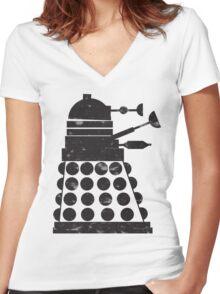 Dormant Destruction Women's Fitted V-Neck T-Shirt