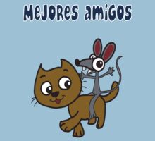 Mejores Amigos - Best Friends (Spanish T-shirt) by mustardofdoom