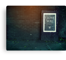 London ILY Sign Canvas Print