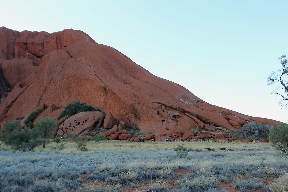 ULURU - and the chain link rail for walkers by gaylene