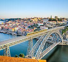 Porto with the Dom Luiz bridge, Portugal by Michael Abid