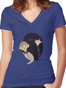 221b Women's Fitted V-Neck T-Shirt