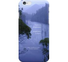 Evening over Lake Cethana at Dorje Ling Retreat Centre iPhone Case/Skin