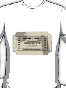 Werewolf zoo ticket T-Shirt