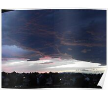 Cloudy Sunset over Denver Poster