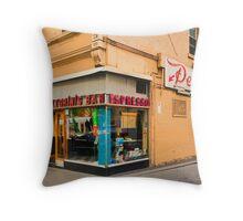 Pellegrinis Espresso Bar Throw Pillow