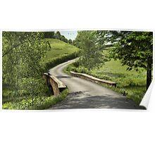 Country Lane Stone Bridge Poster