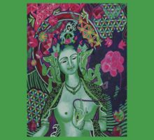 """""""Green Tara- Flower of Life"""" by Kevin J Cooper"""