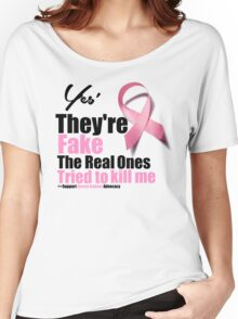 Breast Cancer Awareness They Are Fake Women's Relaxed Fit T-Shirt