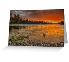 Sunset over the Confluence of the Wallace and Skykomish Rivers Greeting Card