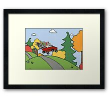 Awesome Bunny Wagon Ride Framed Print