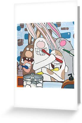Awesome Bunnies Brush Their Teeth by Deanna Partridge-David