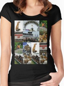 Melbourne cup Women's Fitted Scoop T-Shirt