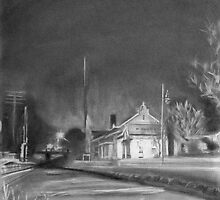Fayetteville Train Station At Night by Keith Miller