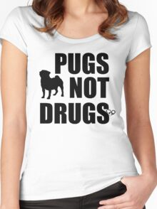 Pugs Not Drugs Women's Fitted Scoop T-Shirt