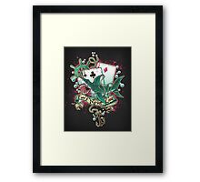 Poker Shark (black)  Framed Print