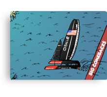 When Oracle Team USA defended their America's Cup Canvas Print