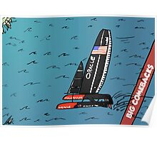 When Oracle Team USA defended their America's Cup Poster