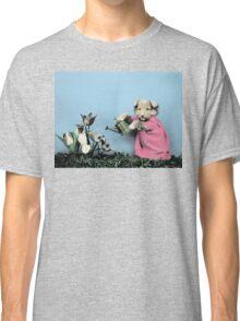 Cute Dog Watering Garden Classic T-Shirt