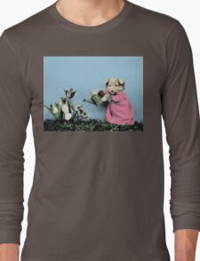 Cute Dog Watering Garden Long Sleeve T-Shirt