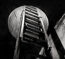 Ladder in Abandoned Tunnel by DangRabbit
