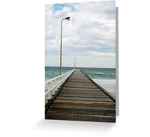 Deserted pier Greeting Card