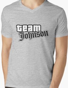 Team Johnson Mens V-Neck T-Shirt