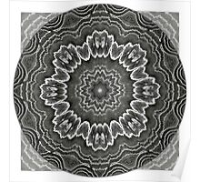 Black Agate Star Mandala Poster