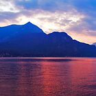 Evening Falls On Lake Como by Adrian Alford Photography