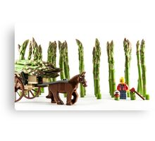 Carting away the harvest Canvas Print