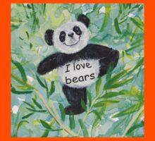 'I Love Bears' with Panda bear Kids Clothes
