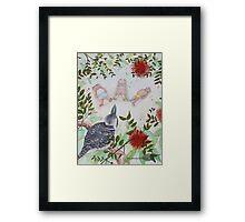 Meditation bears with kookaburra Framed Print