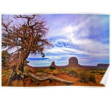 Monument Valley tree View Poster