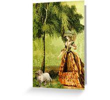 Pastoral Lady Greeting Card