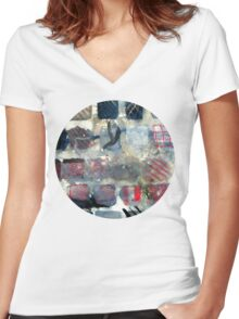 Squares of experimentation Women's Fitted V-Neck T-Shirt