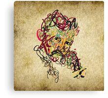 Typo Nikola Tesla design Canvas Print