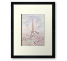 Bicycling through Paris Framed Print