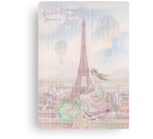 Bicycling through Paris Canvas Print