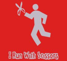 Runs With Scissors Kids Tee