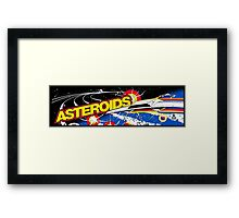 Asteroids Arcade Framed Print