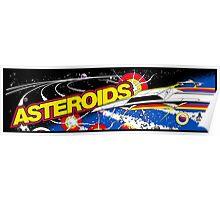 Asteroids Arcade Poster